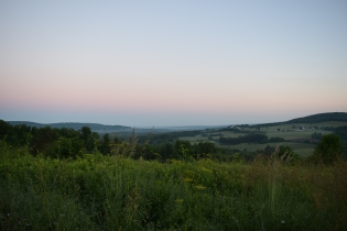 Morning over Central NY's valleys