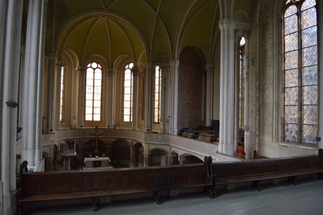 Interior of the chapel from the choir loft