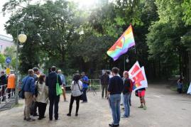 Pride march in support of Iran's LGBTQA